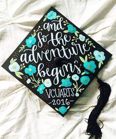 And so the adventure begins ... | Graduation Cap Idea | #MyVCUcap