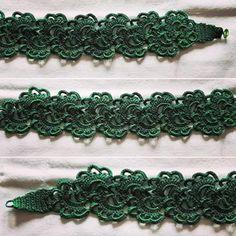 Handmade crocheted necklace.
