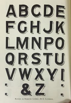The Modern Signwriter Essay by E. Sanderson, Projected Letters and Cast Shadows. 3d TypeBeautiful LetteringSignwritingTypography ...
