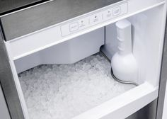 Viking's new Nugget Ice Machine produces up to 80 pounds of nugget ice in 24 hours.