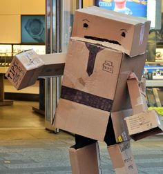 Box man at Time Square NY 8/2015