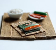 sushi making miniatures to update the dollhouse