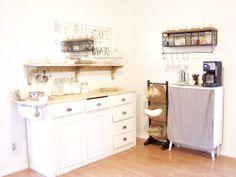 baking center/coffee bar transformation