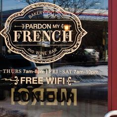 pardon my french, colors, free wifi