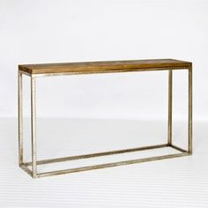 Plankton Wood Metal Console Table Worlds Away