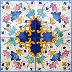 pannello decorato su Gres Vietrese