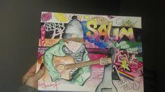 graffiti, guitar, music, colours, art