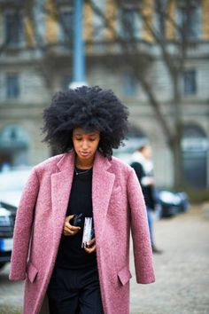 Julia Sarr-Jamois via Elle.com Delicious ice pop coat!