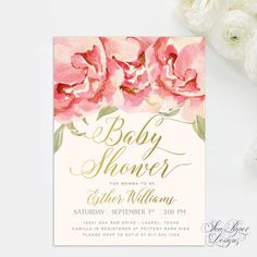 Its A Girl Baby Shower Invitation Template Edit With Adobe Reader - It's a girl baby shower invitation templates