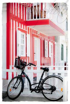 White with red stripes House Bicycle with a by MemoriesPictures, $5.00