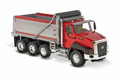 Oruga CT660 Dump Truck, rojo, rojo - Diecast Masters 85502 - 1/50 Escala Diecast Modelo de coches de juguete