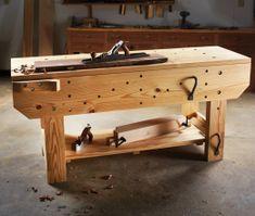 Craftsman Workbench, Woodworking Workbench, Woodworking Crafts, Diy Easel, Building A Workbench, Workbench Designs, Candlemaking, Woodworking Magazine, Wood Plans