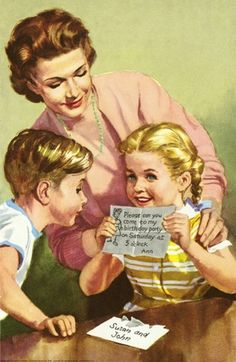 Party invitation -  - The Party - LadyBird Books 1960
