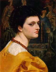 Emma Sandys (English, 1843-1877). Lady in a Yellow Dress, c.1870