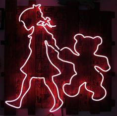 Neon girl by artist Pipsqueak was here