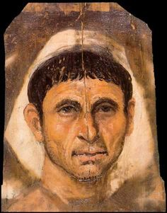 roman portrait painting | Roman Era Funerary Portrait Painting: A Man from the Roman Period