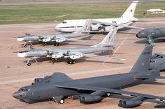 B-52 Stratofortress, 2 Tu-95 Bear's, An-124 and a KC-10 Extender