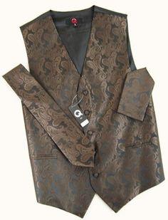 Brand Q Wedding Vest Set Brown Paisley 3pcs Tuxedo Vest + Necktie + Handkerchief XL Brand Q,http://www.amazon.com/dp/B00504ZGDC/ref=cm_sw_r_pi_dp_G2iBrbD7F55A4FA4