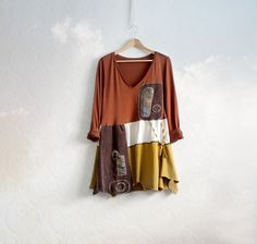 Brown Tunic Shirt Art Clothing Women's by BrokenGhostClothing, $62.00 - WOW again! Just love this!