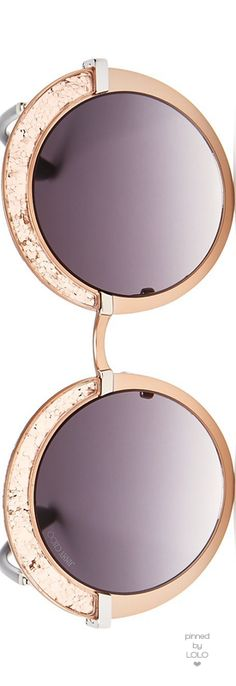 Jimmy Choo Gotha Glitter Round Sunglasses, 50mm