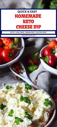 This beautiful Keto Homemade Cheese Dip is not only delicious but also a perfect decoration to your Low Carb Holidays Table. Sugar Free Recipes, Low Carb Recipes, Homemade Cheese Dip, Easy Dips To Make, Garlic Benefits, Low Carb Sauces, Keto Cheese, Unprocessed Food, Ketogenic Recipes