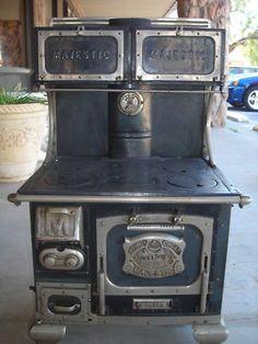 Neat antique wood burning stove