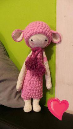 LUPO the lamb made by Sabrina B. / crochet pattern by lalylala