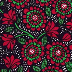 Flower Love by Leena Renko Print Fabrics, Fabric Patterns, Printing On Fabric, Kids Outfits, Cool Stuff, Abstract, Flowers, Christmas, Color