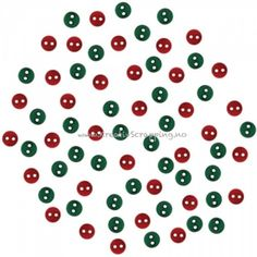 BUTTONS - DRESS IT UP JUL 4898 - MICRO MINI ROUND RED AND GREEN Pakke med ca 48 stk. JESSE JAMES-Dress It Up Button Embellishments. Tiny embellishments for adding dimension to all of your scrapbook pages, cards, invitations and craft projects. Button embellishments come in a variety of shapes and sizes and some even feature glitter. Size, shape and number of embellishments per package varies by theme.