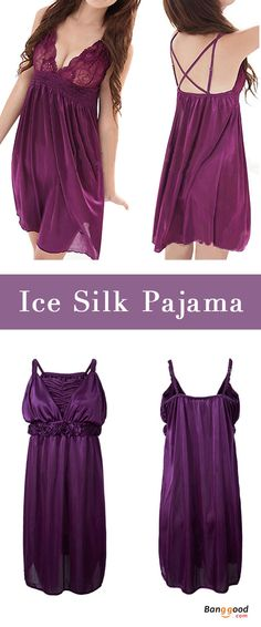 US$10.29 + Free shipping. Women Sleepwear, Sleeping Dress, Ice Silk Pajama, Women Nightie.