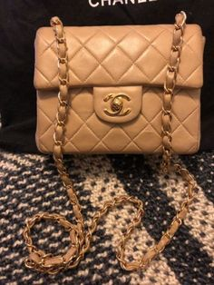 a5f8d77798c5 Details about Classic Chanel Beige Lambskin Square Mini, Silver Trim. Chanel  Mini SquareChanel Classic FlapVintage Chanel BagLambskin ...