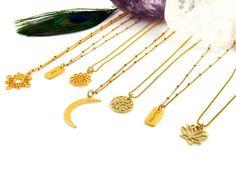 Sun Shine, Moon Magic, Lotus, Tree of Life , Chakra 7 en Inspiratie kettingen | InTu jewelry design with meaning