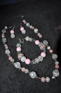 Pink and White Bracelet Set..for sale