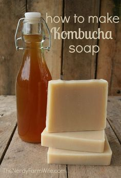 Learn how to make this skin loving, palm free kombucha soap recipe!