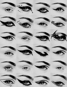 Cool eyeliner designs for school, work, or your own biddings - 24 different kinds of eyeliner for any kind of mood #eyeliner
