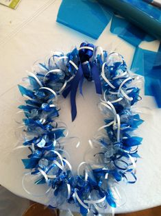 I made this Hershey's kiss graduation lei for my son's kindergarten graduation.