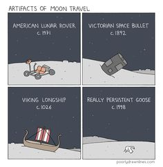 Artifacts of moon travel