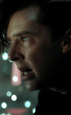 Khan.... His face. His beautiful face. Come here, i want to hug that face and give him bunnies in sweaters and tea and books, and we can cuddle by a fire place and read the hobbit together