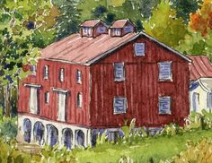 On the final day of painting during Plein Air Mt. Lebanon 2014, I left the city behind and headed out to paint at Gilfillan Farm, which was ...