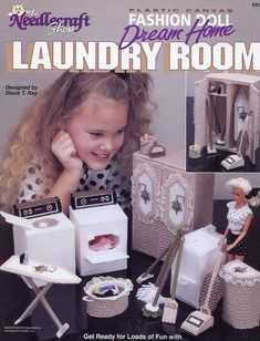 Fashion Doll Laundry Room for Barbie Plastic Canvas Pattern