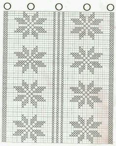 Gráfico croche cortina