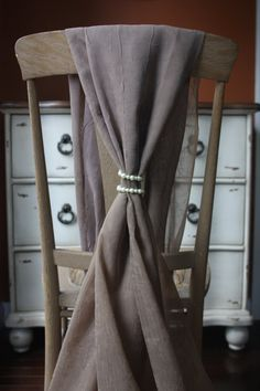 Chair Sash Pearl Coil Tie Back by AddSomeCharmBoutique on Etsy, $2.75