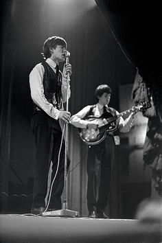 vintage everyday: Rare Photos of The Rolling Stones on the Stage in 1962-63