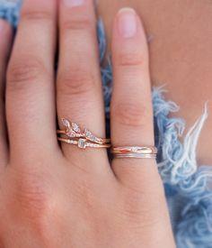 Rose Gold & Diamond Pinky Ring