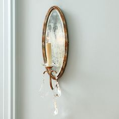 Marseille 1-Light Mirrored Wall Sconce