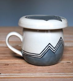 Made by two hands, each white stoneware pour over set is wheel-thrown and hand-painted.