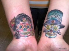 Free tattoo photo gallery, tattoo shops, tattoo designs, samples, and everything else you need to find the right tattoo. Skull Finger Tattoos, Sugar Skull Tattoos, Foot Tattoos, Sugar Skulls, Tatoos, Him And Her Tattoos, Tattoos For Guys, Tattoos For Women, Tattoo Font For Men