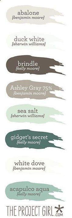 Coastal-themed paint colors | Jenallyson – The Project Girl – Fun Easy Craft Projects including Home Improvement and Decorating – For Women and Moms
