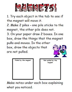 "FREE SCIENCE LESSON - ""Magnet Center and Mazes"" - Go to The Best of Teacher Entrepreneurs for this and hundreds of free lessons.  #FreeLesson   #TeachersPayTeachers   #TPT   # Science http://thebestofteacherentrepreneurs.blogspot.com/2013/08/free-science-lesson-magnet-center-and.html"