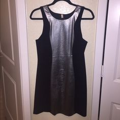 Bailey 44 dress Bailey 44 mini dress. Size large. Black with silver metallic snake skin down the middle. Stretchy material but also tight fitting. Perfect dress for a night out! Only worn once still in perfect condition! Bailey 44 Dresses Mini